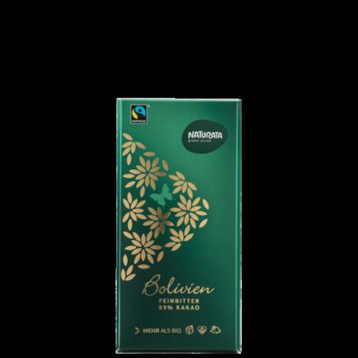 Naturata ekologiškas juodas šokoladas 95% Bolivien, 80g