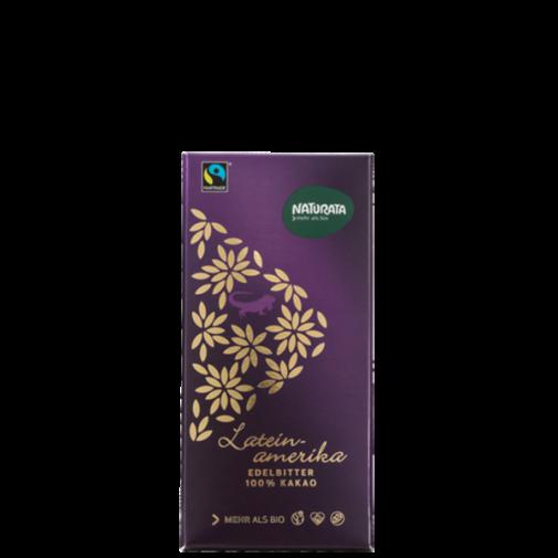 Naturata ek. juodas šokoladas 100% Latein amenika, 80g