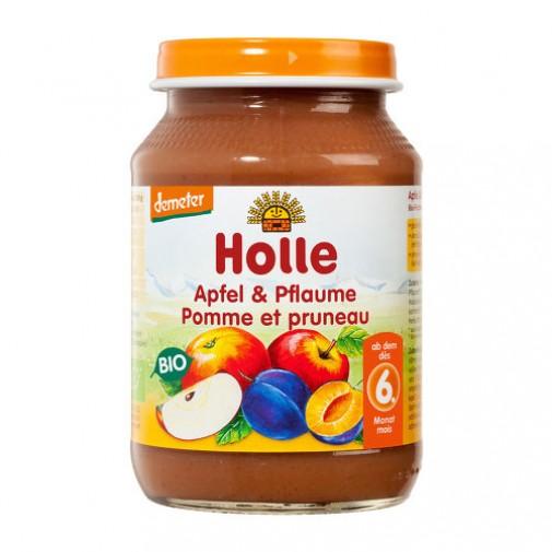 Holle biodinaminė obuolių ir slyvų tyrė, 190g