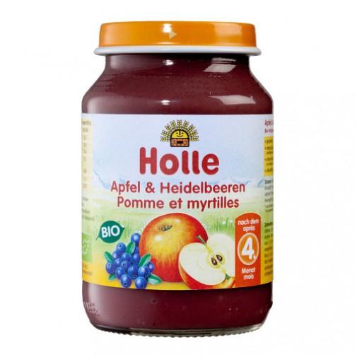 Holle ek. obuolių ir mėlynių tyrė, 190g