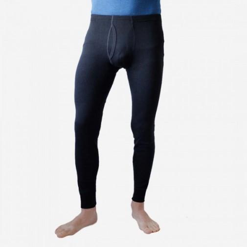 Ekologiškos vilna/šilkas kelnės vyriškos juodos S dydis