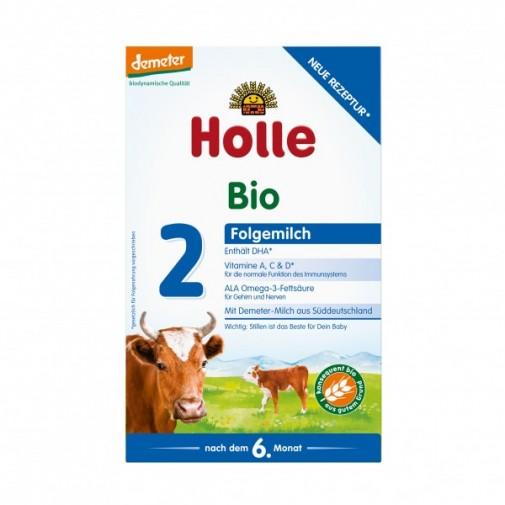 Holle biodinaminis - ekologiškas tolesnio maitinimo pieno mišinys 2, kūdikiams nuo 6 mėn, 600 g