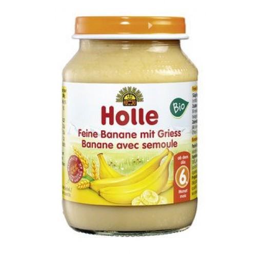 Holle ekologiška bananų ir grūdų dribsnių tyrė