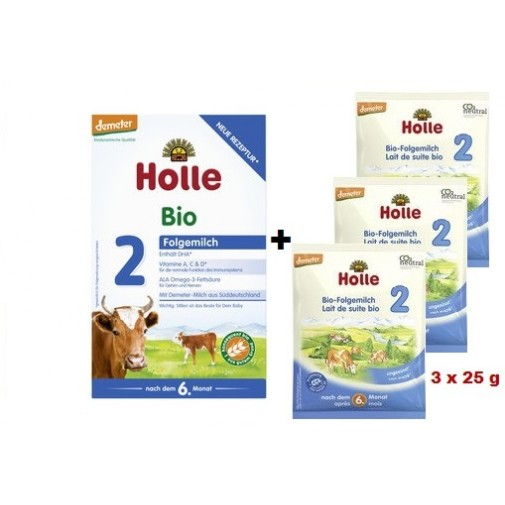 Holle biodinaminis - ekologiškas tolesnio maitinimo pieno mišinys 2, kūdikiams nuo 6 mėn