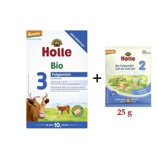 Holle biodinaminis - ekologiškas tolesnio maitinimo pieno mišinys 3, kūdikiams nuo 10 mėn, 600 g