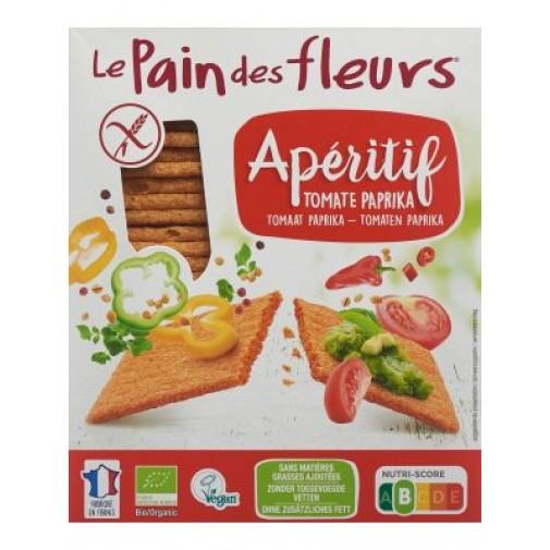 LPDF ekologiški KUKURŪZŲ ir RYŽIŲ paplotėliai su pomidorais ir paprika