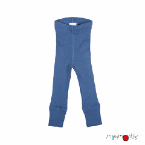 BabyIdea ek. vilnos kelnės mėlynos be pėdų ( 110-122/128 cm )
