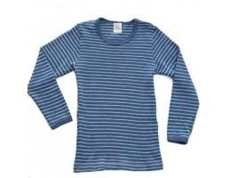 Hocosa vilnos marškinėliai dryžuoti natūrali/mėlyna 92