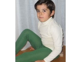Hocosa ek. vilna/šilkas marškinėliai su kaklu, balti 152