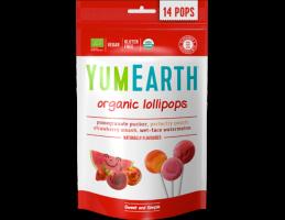 YumEarth ekologiški įvarių vaisių ( granatų, arbūzo, braškių, persikų ) ledinukai ant pagaliuko