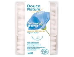 Douce Nature medvilnės saugūs kūdikių ausų krapštukai, 60vnt