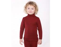 Hocosa ek. vilna/šilkas marškinėliai su kaklu, vyšnia 152