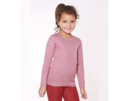 Hocosa ekologiški vilna/šilkas marškinėliai rubino raudona su balta 128