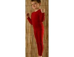 Hocosa ekologiški vilnos marškinėliai raudoni 104