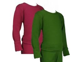 Hocosa ekologiški vilna/šilkas marškinėliai žali 140