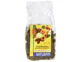 Naturata ekologiškos džiovintos spanguolės su obuolių sultimis, 100g