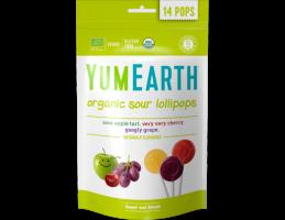 YumEarth ekologiški rūgštūs ( obuolių, vyšnių, vynuogių ) ledinukai ant pagaliuko