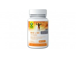 Biologiškai aktyvus Vitaminas B12 ( Metilkobalaminas ) +  Vit. D3 pastilės 1,5g